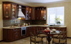 Golden Brown Kitchen Cabinet (GB14) pictures & photos