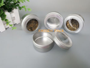 80ml Alminum Cosmetic Cream Jar with Window Screw Lid (PPC-ATC-80) pictures & photos