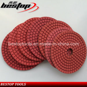 "4"" Angle Grinder Red Wet Polishing Pad for Granite Slab pictures & photos"