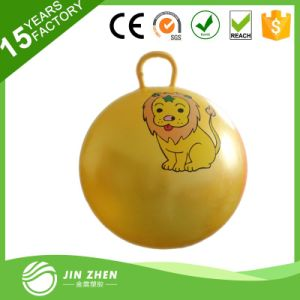 Wholesale Eco-Friendly PVC Toy Jumping Pop Ball with Handle Hopper Ball
