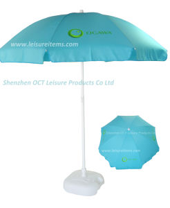 Sky Blue Customized Beach Umbrella pictures & photos
