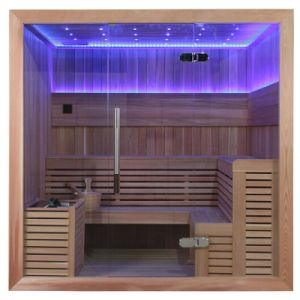 Monalisa Luxury Weight Loss LED Wooden Sauna Room (M-6045) pictures & photos