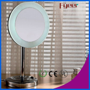 Fyeer Free Standing Single Side LED Makeup Table Mirror pictures & photos