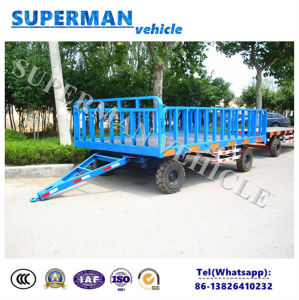 5t Utility Luggage Cargo Transport Drawbar Full Trailer for Sale pictures & photos