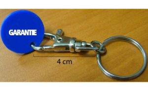 Practical Plastic Coin Keychain with Metal Hook pictures & photos