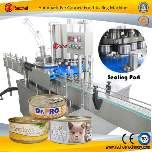 Automatic Canned Pet Food Sealing Machine pictures & photos