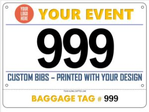 New Product Customization Marathon Sport Running Paper Brand Bib Numbers pictures & photos
