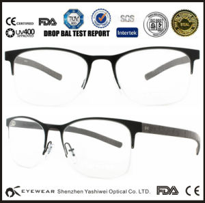 6e46d2320d7 China New Model Semi-Rimless Titanium Eyeglass Frames OEM - China ...