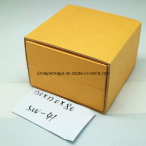 Plastic Watch Box with Leatherrete Paper