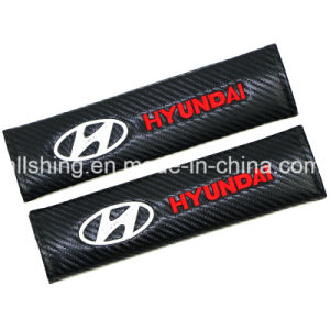 Car Seat Belt Carbon Covers Shoulder Pads For Hyundai