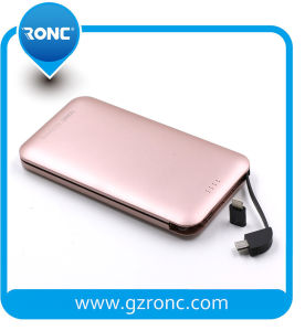 8000mAh Card Powerbank with Built-in Andriod Cable for Samsung pictures & photos
