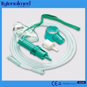 Medical PVC Multi-Vent Oxygen Mask in Green Color pictures & photos