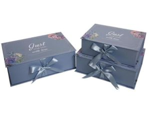 Custom Folding Box New Design With Ribbon Luxury Gift Box