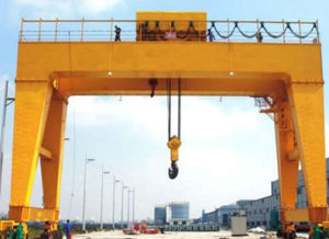 Double Girder Gantry Crane with Electric Hoist Lifting Machinery pictures & photos