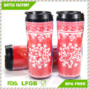 Double Wall Wide Mouth Plastic Travel Mug pictures & photos