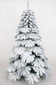 Artificial 7.5 Feet Snow Christmas Tree