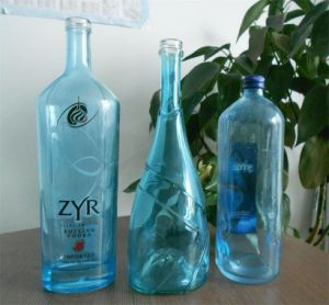 750ml Custom Made Liquor Bottles with Screen Printing pictures & photos