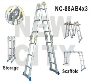 Durable Multifunction Aluminum Step Ladder with Platform (NC-88AB4X3)