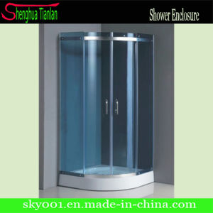 Hangzhou Corner Simple Tempered Glass Bathroom Simple Shower Room (TL-505) pictures & photos