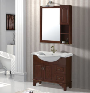 Solid Wooden Bathroom Cabinet for Wholesale pictures & photos
