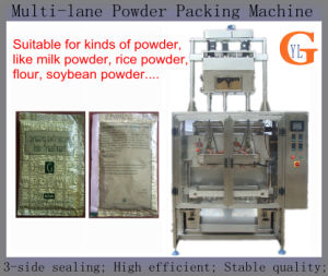 Multi-Lane 3 Sides Sealing Soybean Powder Packing Machine pictures & photos