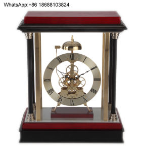 Galaxy Clock with Bell Wooden Table Chiming Clock