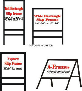 Metal a Frame Signs/Traffic, Coffee Advertising Exhibition Factoryequipment Outdoor Board, Billboard, Display, Advertising, Banner Promotion Neon Sign Stand pictures & photos