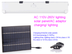 AC DC Rechargeable Solar Power LED Tube Light with 5 Lighting Class pictures & photos