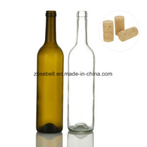 Bordeaux Type Glass Wine Bottle 750ml with Height 323mm pictures & photos