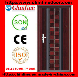 Steel Security Door with CE Certificate (CF-003) pictures & photos