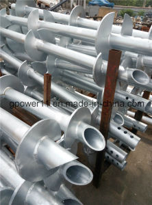 Helical Ground Screw Piles for Foundation of Solar Photovoltaic Brackets pictures & photos