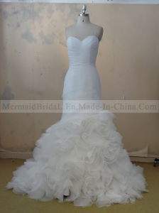 Mermaid Ivory Organza Wedding Dress (M1312071)