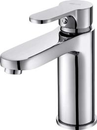 Ceramic Cartridge, Copper Alloy Silver Basin Mixer (T-1109)