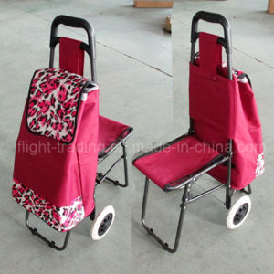 High Quality of Two Wheels Shopping Cart with Chair pictures & photos