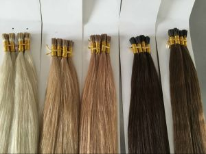 European Remy Blonde Flat Tip Human Hair Extensions