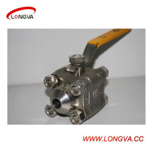 China Manufacture Sanitary Stainless Steel Three Piece Welding Ball Valve pictures & photos