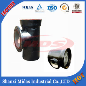 ISO2531 En545, En598, BS4772 Ductile Cast Iron Socket-Spigot Tee with Flange Branch pictures & photos
