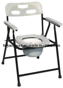 Chromed Steel Commode Chair (FY810) pictures & photos