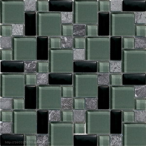 Hot Sale Glass Mixed Marble Mini Versailles Mosaic Tile pictures & photos