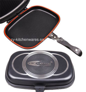 Die Cast Aluminum Cookware-Double Fry Pan