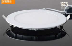 Round 3W Slim LED Panel Light pictures & photos