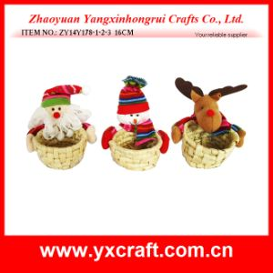 Christmas Decoration (ZY14Y431-1-2-3 15CM) Christmas Basket pictures & photos