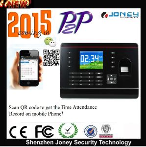 2015 New P2p RFID Card/Password/Fingerprint Time Attendance Built in Timing Bel pictures & photos