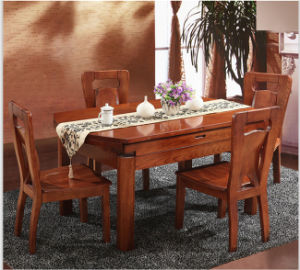 Creative Design Extendable Ash Wood Dining Table