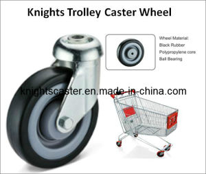 Black Rubber Swivel Trolly Caster Wheel