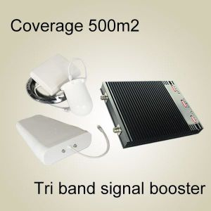 2g3g4g Signal Booster, 900 2100 2600MHz UHF Tri Band Amplifier RF Repeater High Quality RF Repeater Signal Booster