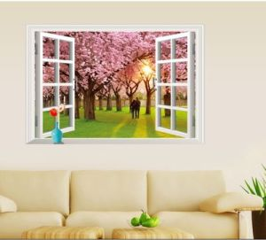 China Removable Wall Sticker Wall Mural Scenery Animal Cartoon