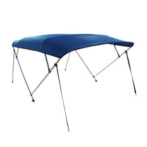 4bow Aluminium Bimini Top with Rear Support Pole -- Blue Color