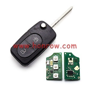 for 2+1 Button Remote Key Blank with Panic Au