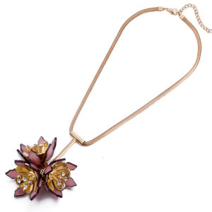 Wholesale Charm Flower Pole-Chain Pendant Necklace for Girls pictures & photos